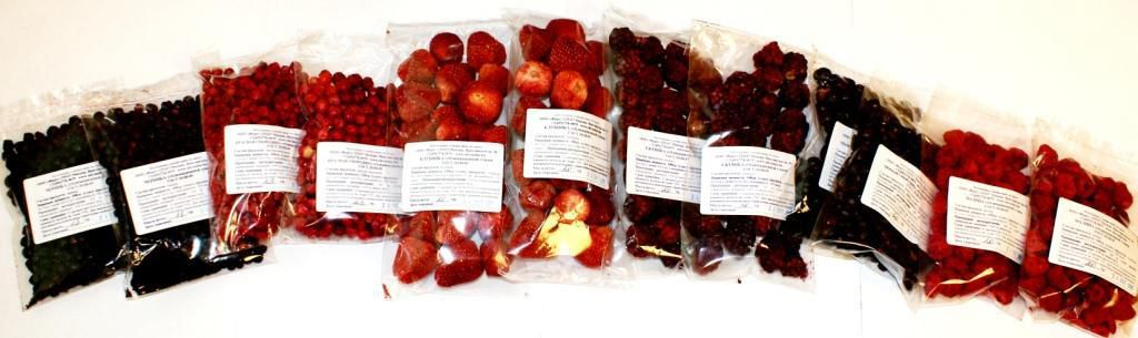 Как сублимировать ягоды в домашних условиях