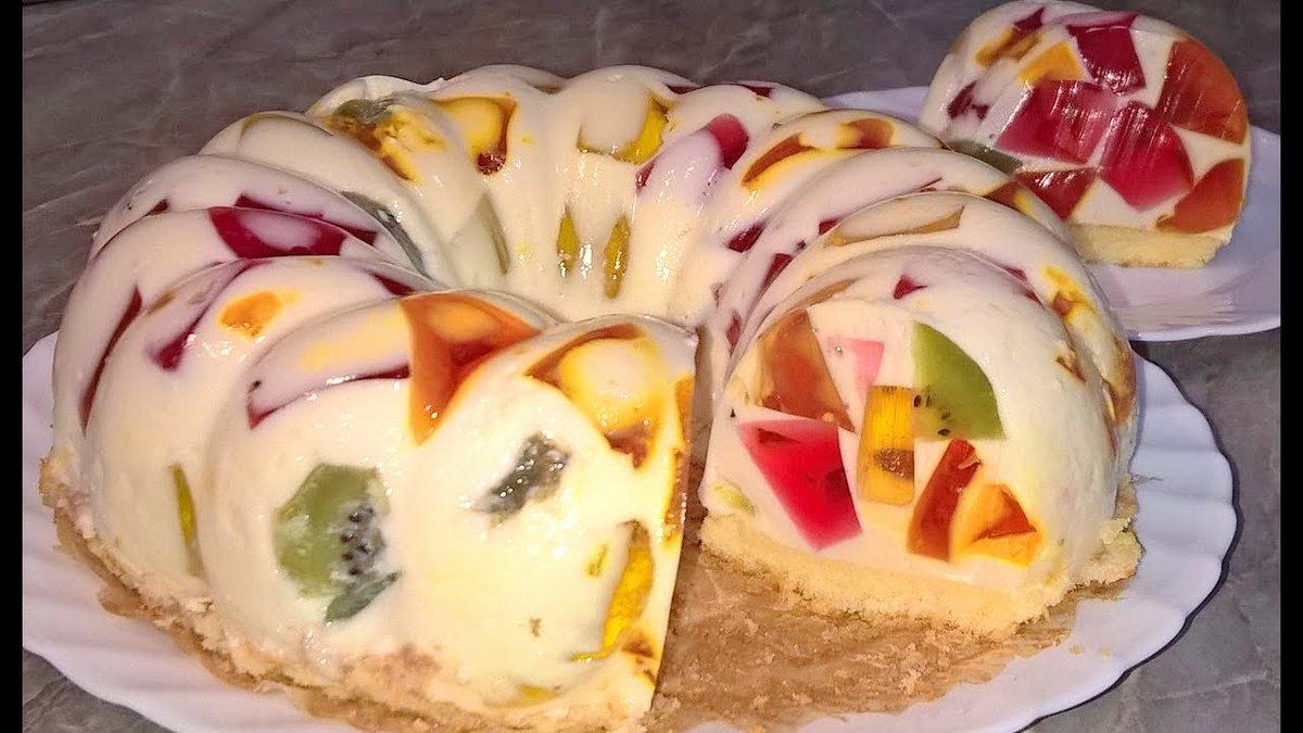 №4: Торт из сметаны и желе
