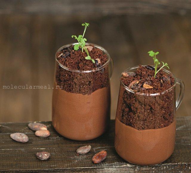 шоколадная земля молекулярная кухня